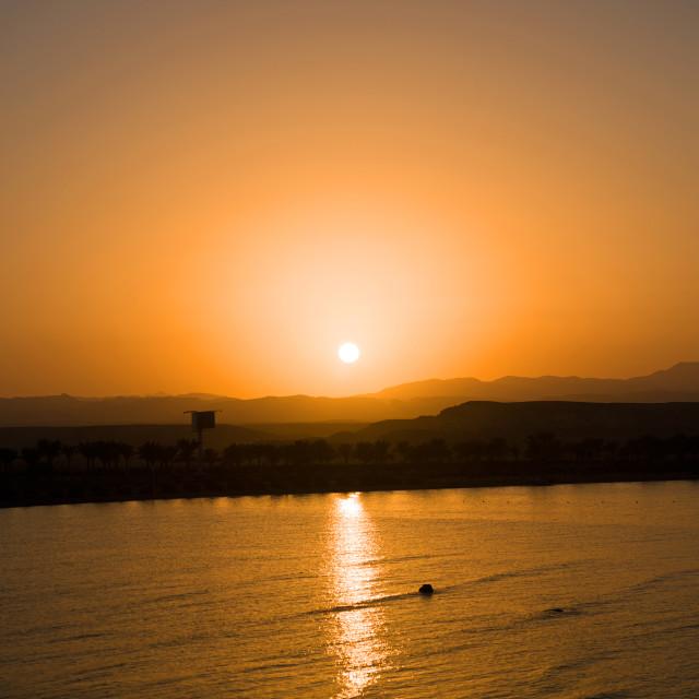 """Egypt Sunset"" stock image"