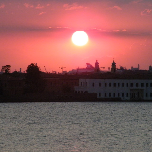 """Sunset Over Venice 3"" stock image"