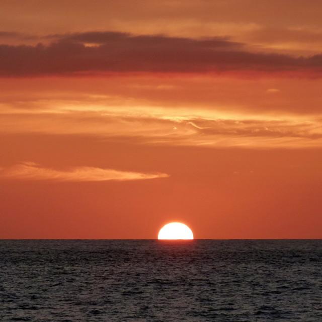 """""""Sundown on Big Island, Hawaii"""" stock image"""