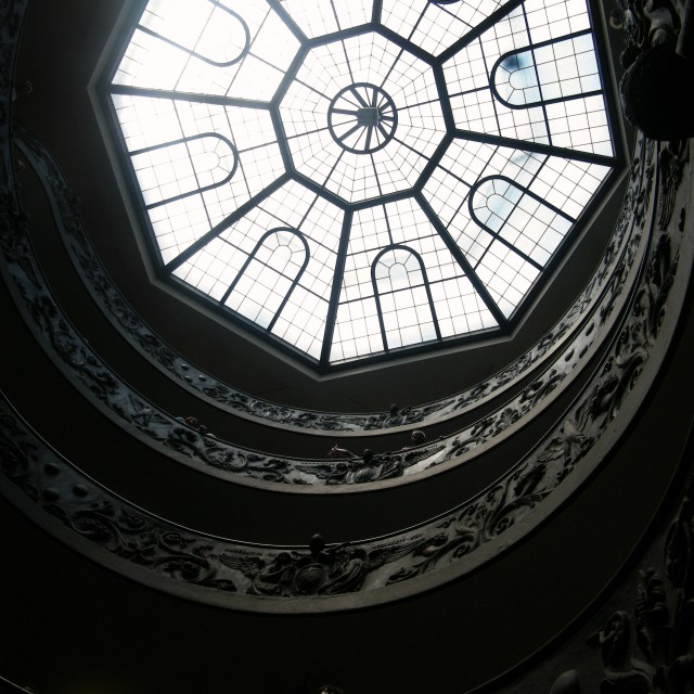 """Vatican Stairway & Dome"" stock image"