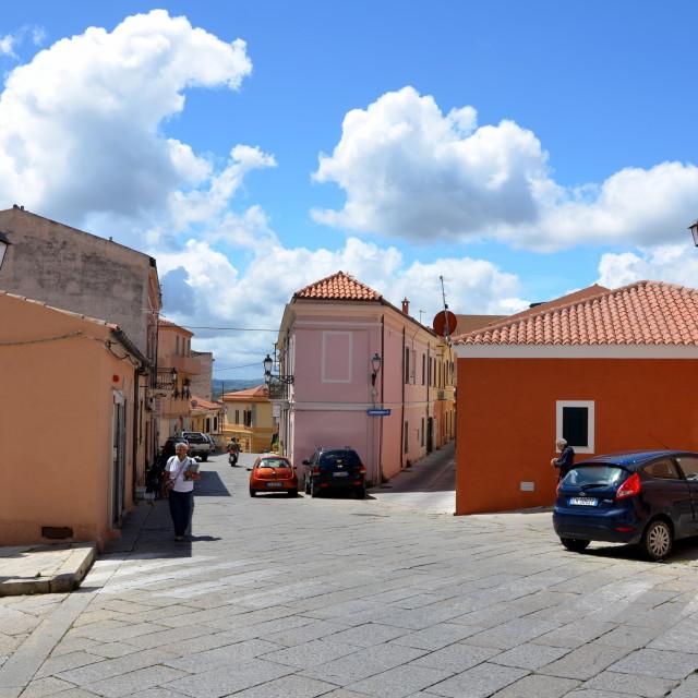 """La Maddalena Village"" stock image"
