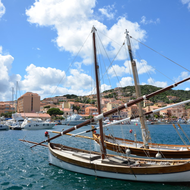 """La Maddalena's Harbor"" stock image"