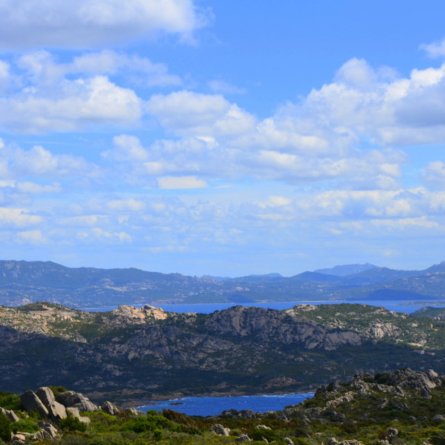 """Panorama of La Maddalena"" stock image"