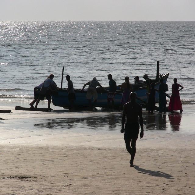 """Goa Beach Silhouette"" stock image"