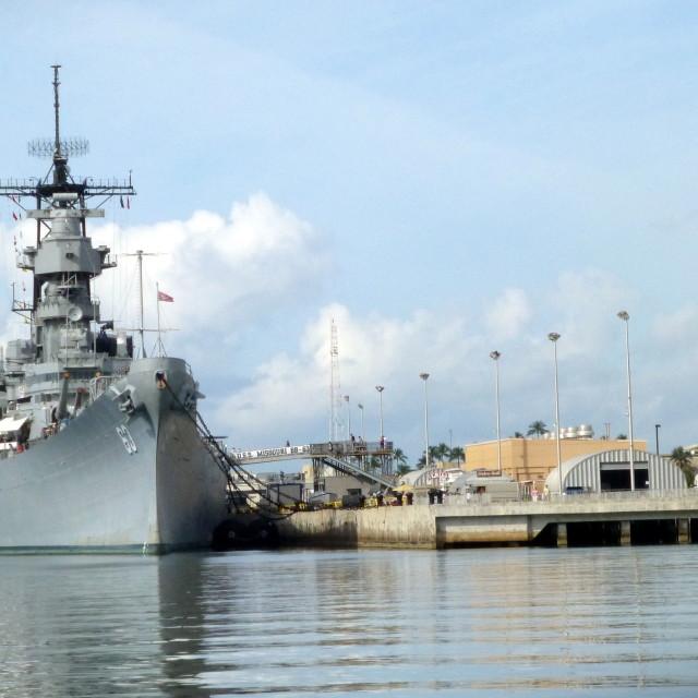"""USS Missouri"" stock image"