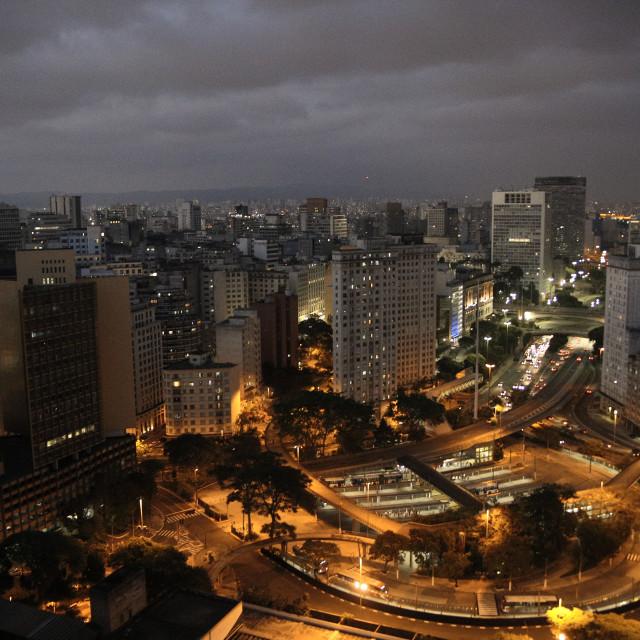 """""""Anhangabaú & Centro, São Paulo."""" stock image"""