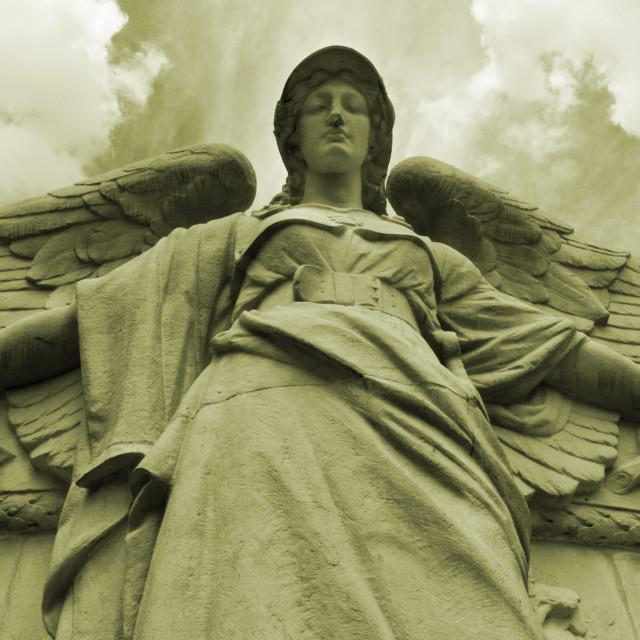 """""""Angel of Epernay"""" stock image"""