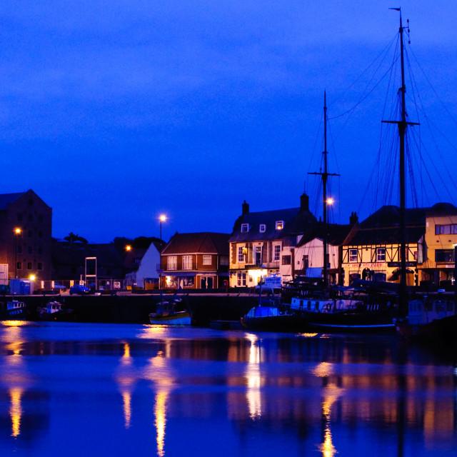 """Wells Harbour Twilight"" stock image"