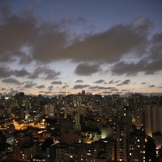 """""""São Paulo Skyline 1"""" stock image"""