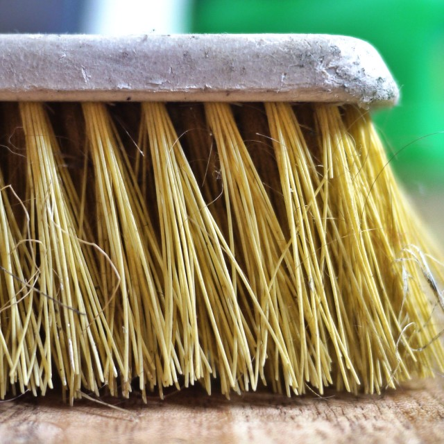 """Tatty old sweeping brush"" stock image"
