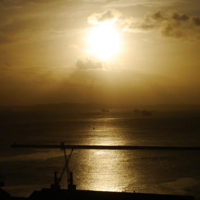 """""""Salvador Harbour, Bahia, Brazil"""" stock image"""
