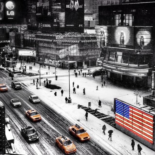 """NYC Times Square Winter wonderland"" stock image"