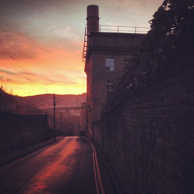 """Dean Clough Sunrise #2"" stock image"