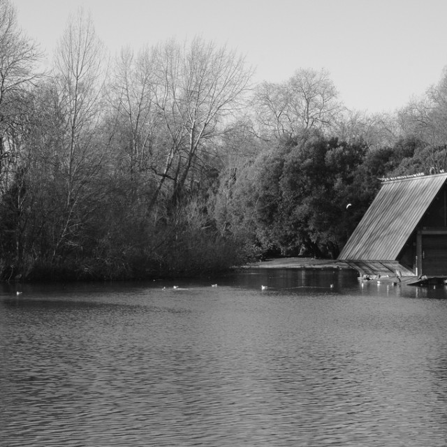 """""""The Boat House"""" stock image"""