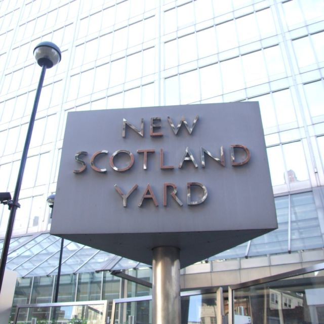 """New Scotland Yard"" stock image"