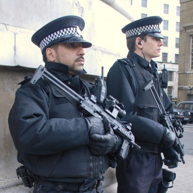 """Armed Police Officers"" stock image"