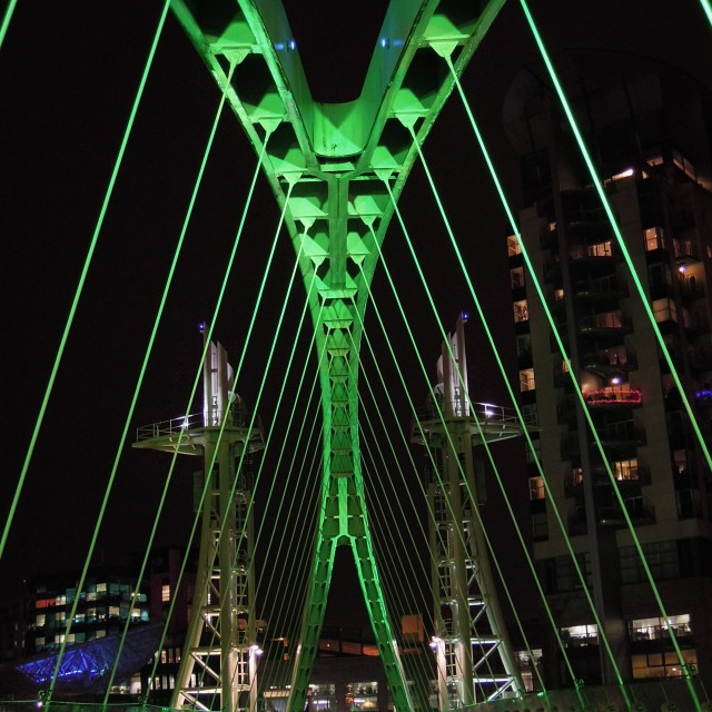 """The Millennium Footbridge - GREEN"" stock image"