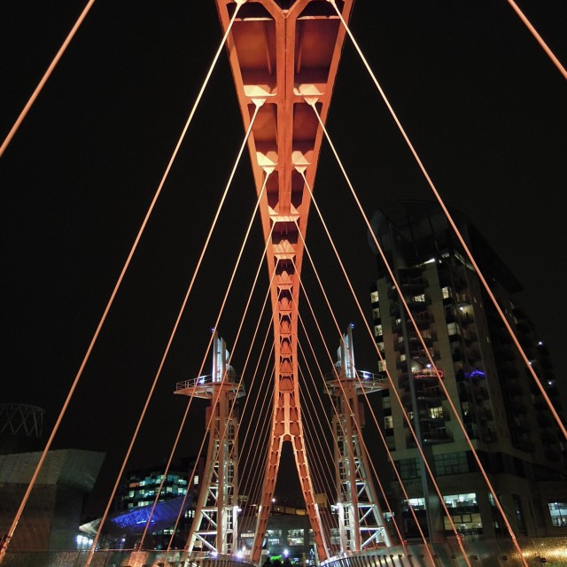 """The Millennium Footbridge - ORANGE"" stock image"