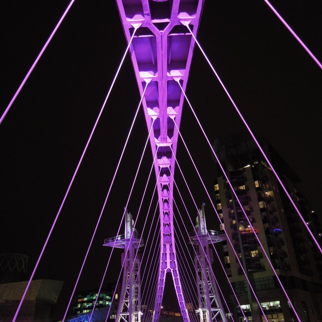 """The Millennium Footbridge - VIOLET"" stock image"