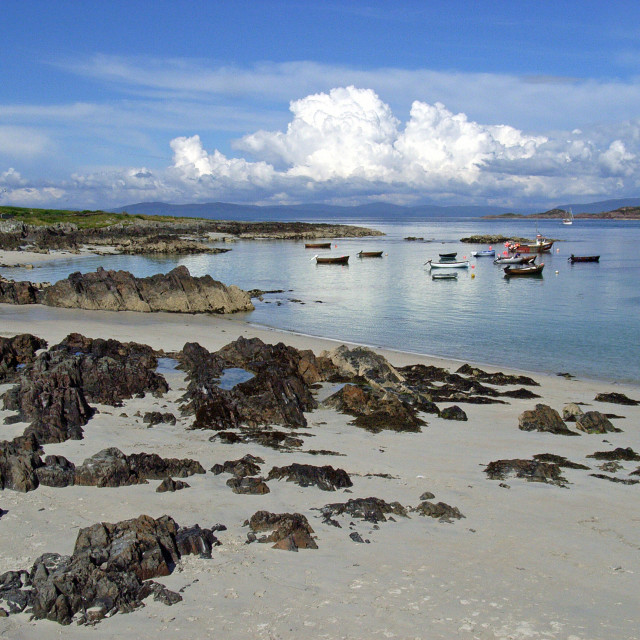 """The tranquility of Iona"" stock image"