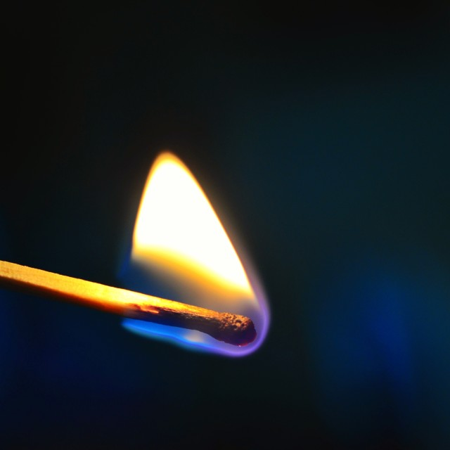 """Flame on match"" stock image"