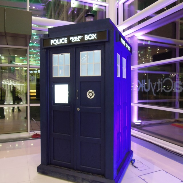"""The Tardis has landed"" stock image"