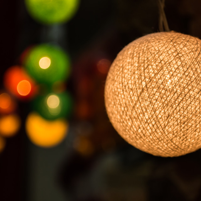 """Thread ball lamp"" stock image"
