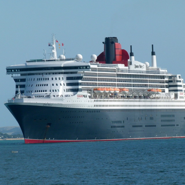 """""""Queen Mary 2 in New Zealand, North Island"""" stock image"""