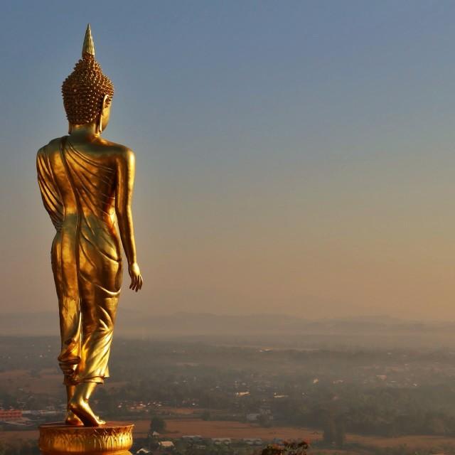 """Beautiful Golden buddha"" stock image"