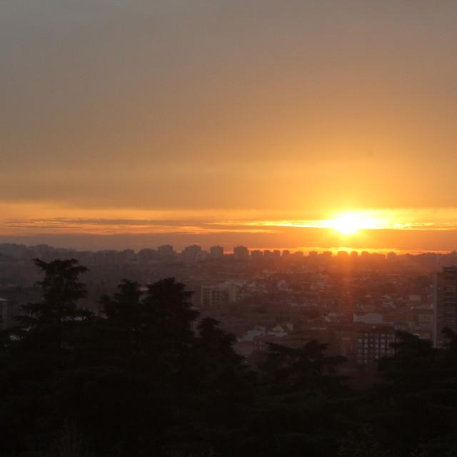"""Spanish Sun Set"" stock image"