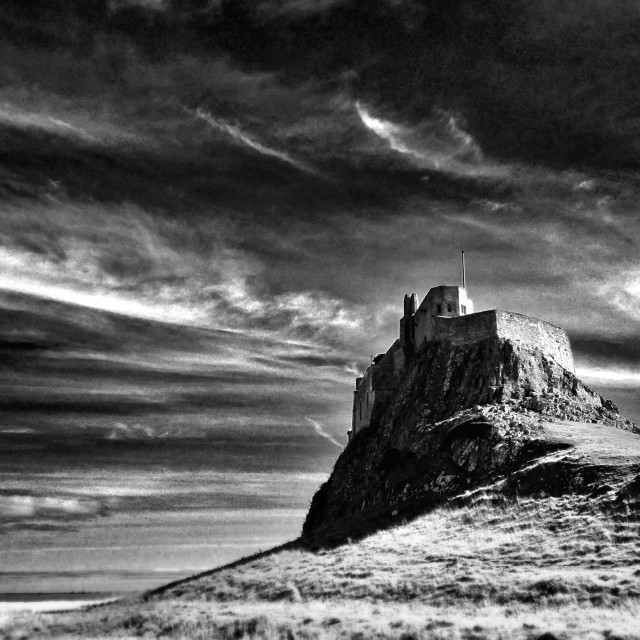 """Castle on Lindisfarne"" stock image"
