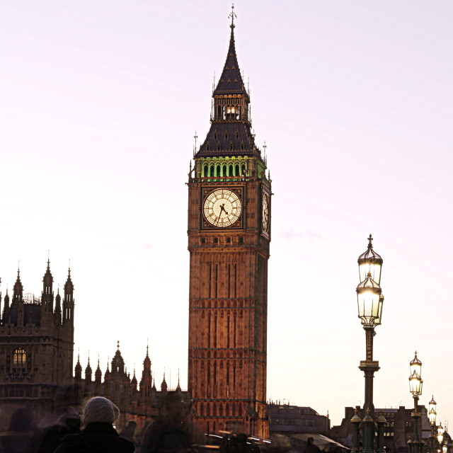 """London Sunset, Big Ben"" stock image"
