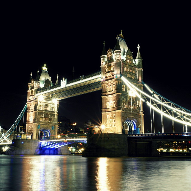 """Tower Bridge close up"" stock image"