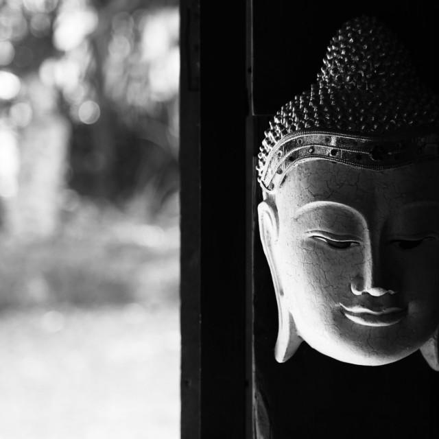 """""""Mask of Buddha"""" stock image"""