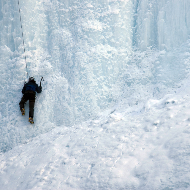 """Ice Climbing"" stock image"