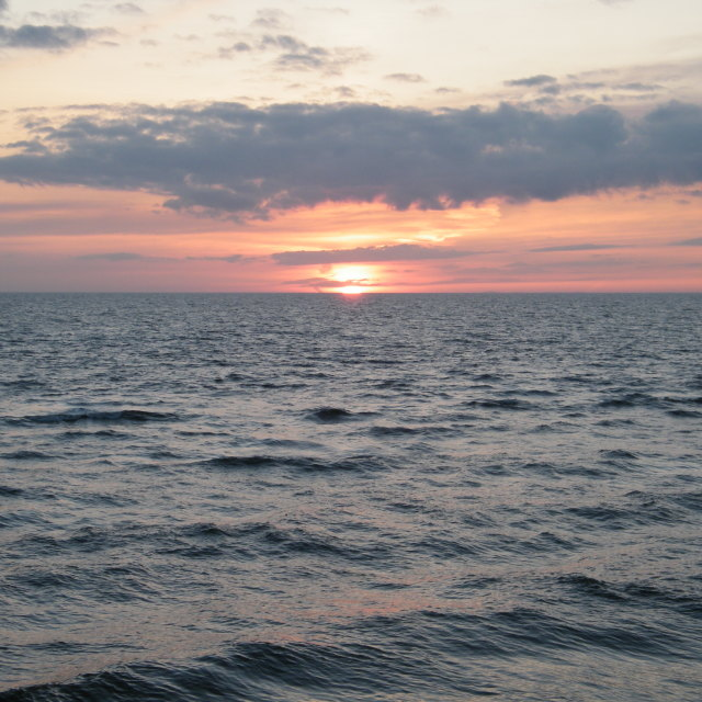 """Sunset over the Irish Sea 2"" stock image"