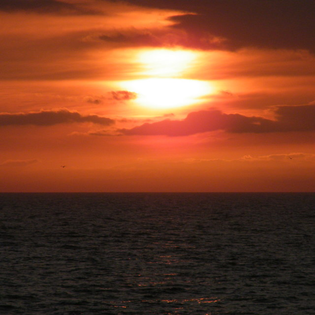 """Sunset over the Irish Sea 3"" stock image"