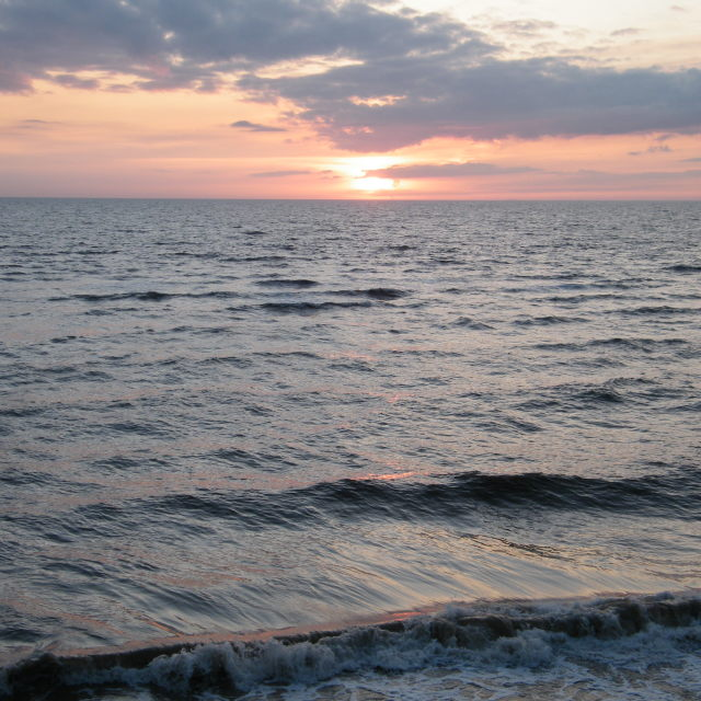 """Sunset over the Irish Sea 4"" stock image"