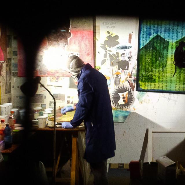 """toxic art lab"" stock image"