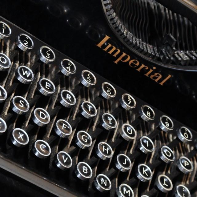 """""""The Old Typewriter"""" stock image"""