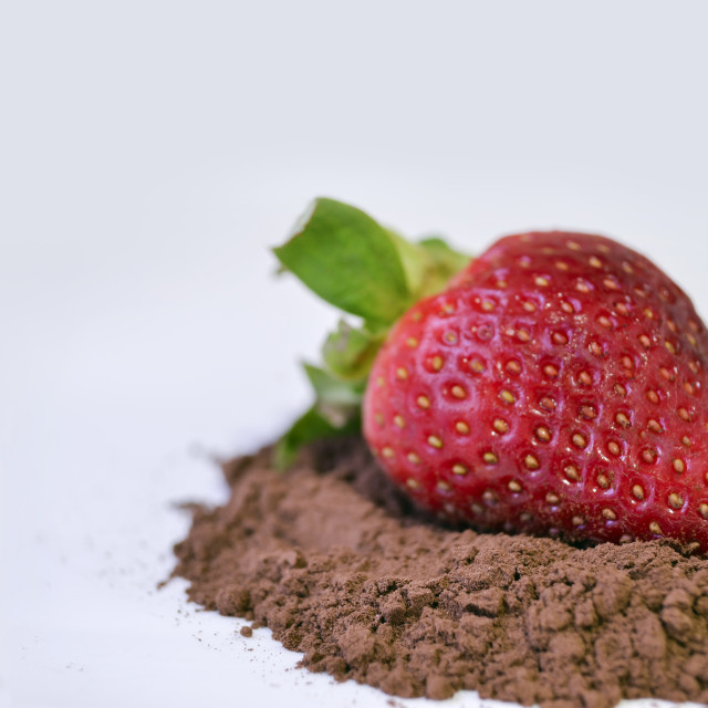 """""""Strawberry with cocoa"""" stock image"""