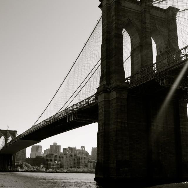 """The Bridge of Brooklyn"" stock image"