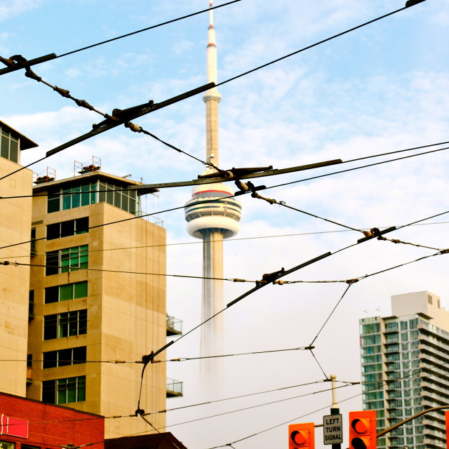 """CN Tower Fog"" stock image"