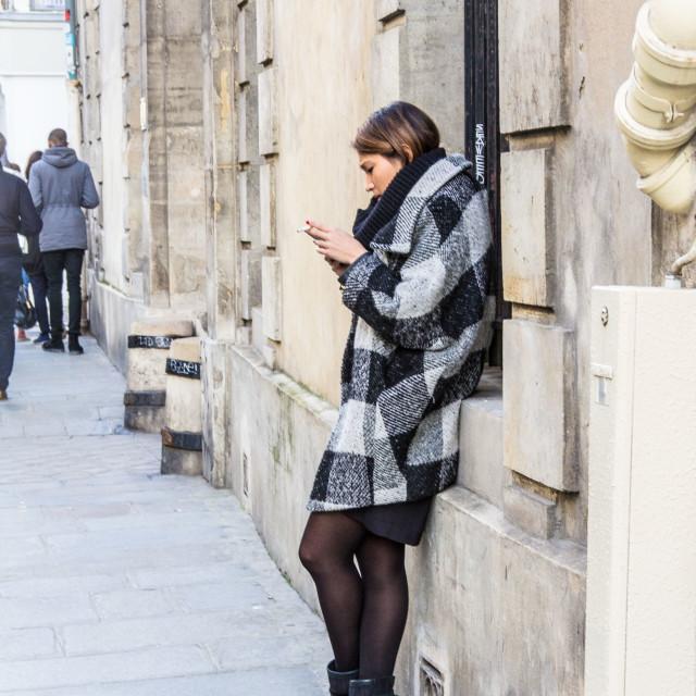 """""""Fashion Week Paris"""" stock image"""