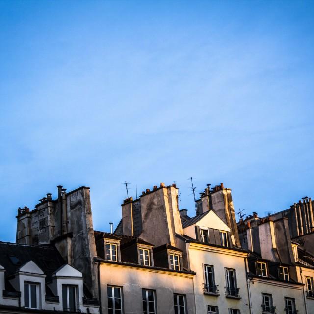 """""""Marais skyline"""" stock image"""