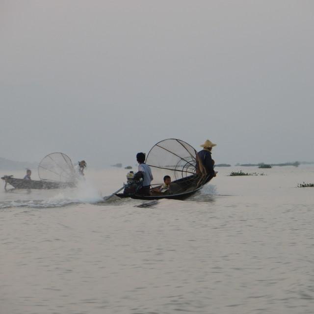 """Inle Lake, Burma"" stock image"