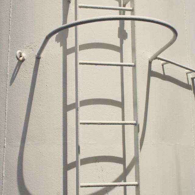"""Boat Ladder"" stock image"