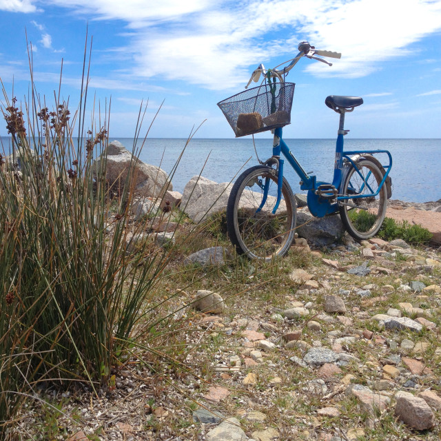 """Bicycle at the Mediterranean"" stock image"
