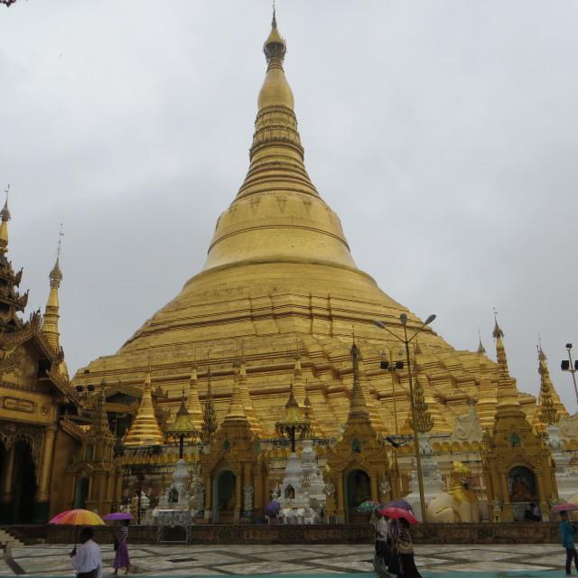 """""""Shwedagon Pagoda, Rangoon"""" stock image"""