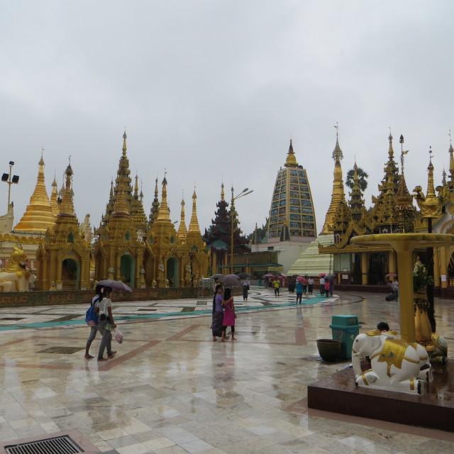 """""""Shwedagon Pagoda, Rangoon, Burma"""" stock image"""